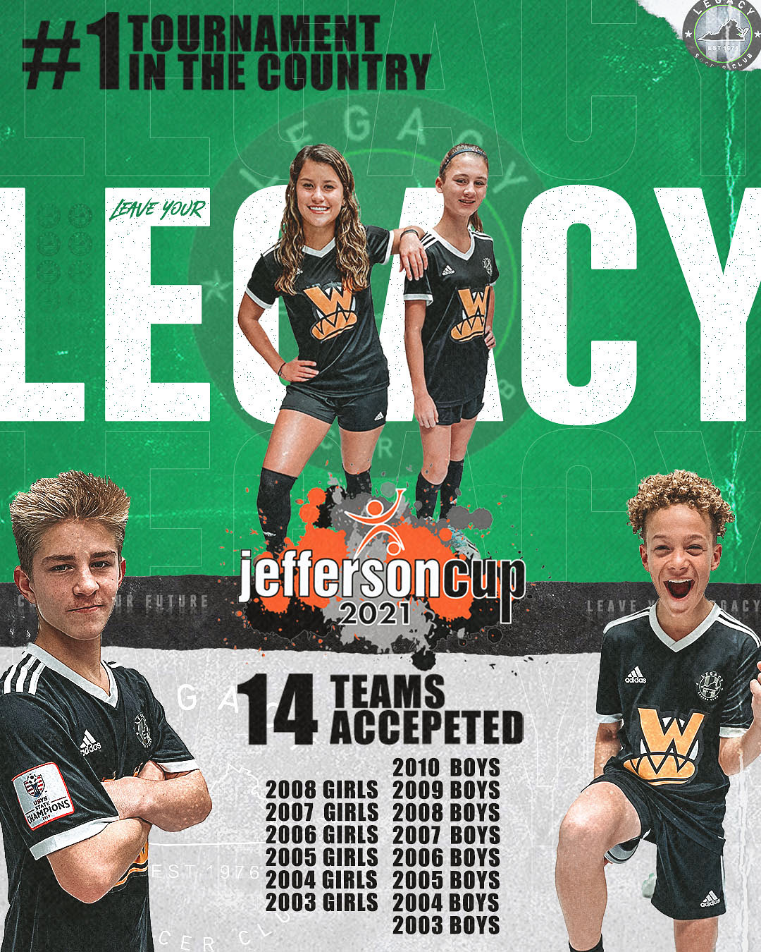 14 Teams Accepted into Jeff Cup